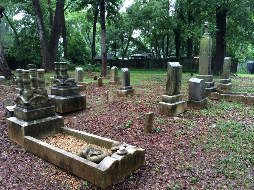 July 19, 2014: Rainy day at the cemetery
